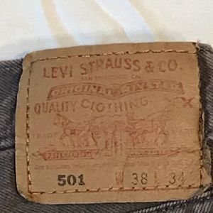 Vintage Levi's 501 38x34 USA Brown Denim Jeans